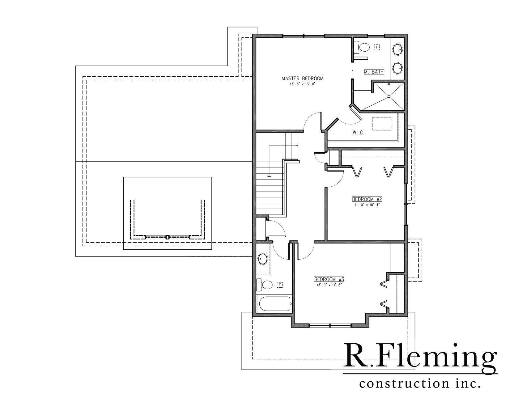 Kumar 2 story r fleming construction r fleming for Fleming homes floor plans